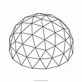 Dome Geodesic Coloring sketch template