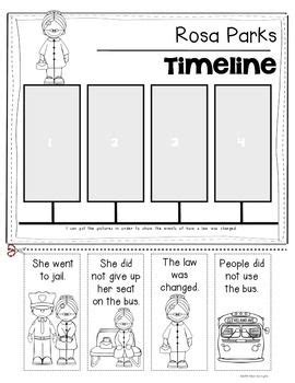 printable rosa parks worksheets learning   read