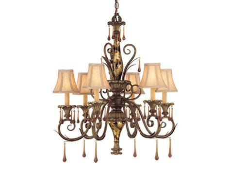6 Light Chandelier With Shades by Helenic Patina 6 Light Chandelier With Shades Ebay