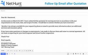 how to write a follow up email to client after quotation With customer follow up email template