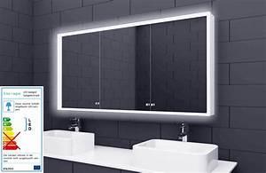 Badezimmer Spiegelschrank Led : alu badschrank badezimmer spiegelschrank bad led beleuchtung 140x70cm sac140h70 ebay ~ Indierocktalk.com Haus und Dekorationen