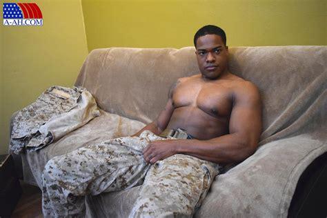 Big Muscular Black Navy Petty Officer Jerking His Big