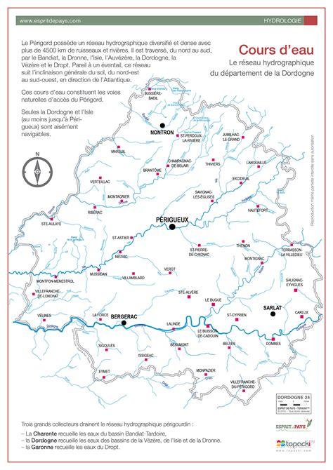 cuisine bergerac cartographie l 39 hydrographie du périgord