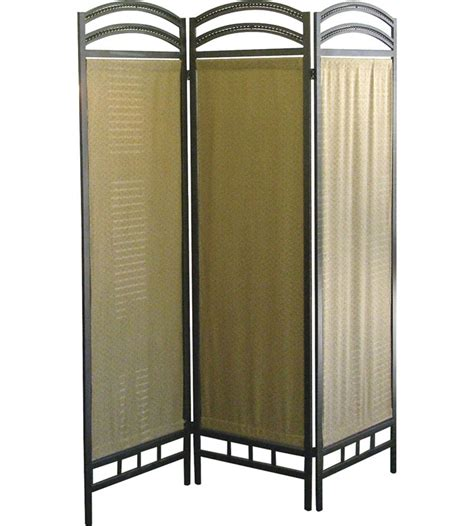 3panel Room Divider  Pewter In Room Dividers