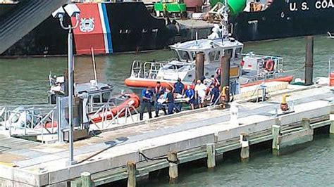 Boat Transport Galveston by Coast Guard Rescues Injured From Boat 15