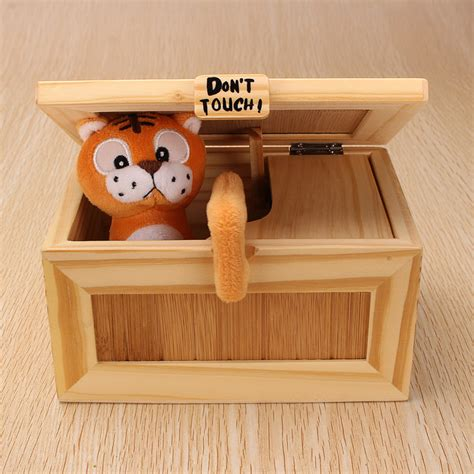desk toys for geeks pre assembled useless box cute tiger gimmicky fun geek