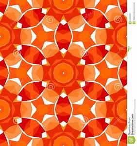 Multicolor Geometric Pattern In Bright Red Stock