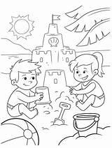 Sand Coloring Crayola Castle Castles Building Colouring Stencils sketch template