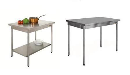 table de cuisine inox 14 modèles à partir de