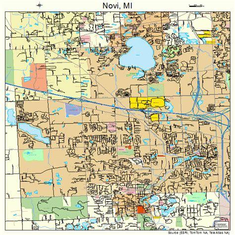 novi michigan street map 2659440