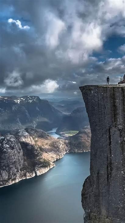 Iphone Norway Preikestolen Cliff Rock Pulpit Hintergrundbilder