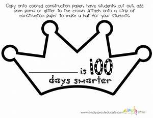 let39s celebrate 100 days in school with a mini kit With 100th day of school crown template