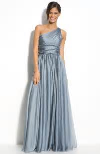 nordstrom bridesmaids ml lhuillier bridesmaids chiffon one shoulder gown nordstrom exclusive in gray steel