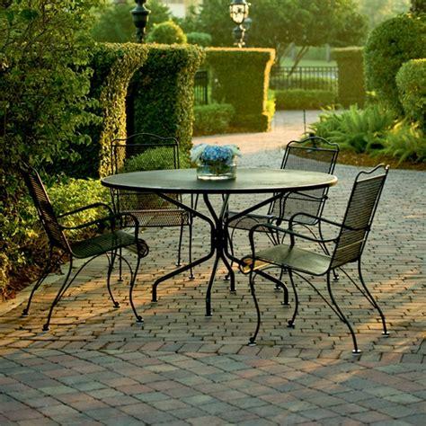 woodard tucson wrought iron 5 patio dining set wd