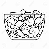 Salad Fruit Clipart Drawing Background Isolated Outline Icon Getdrawings Clipground sketch template