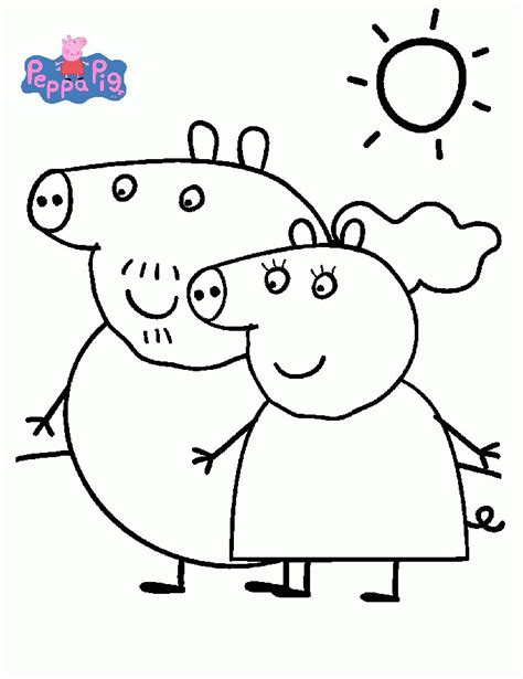 Peppa Pig Colouring Coloring Home