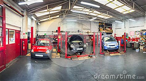 automotive car repair shop stock photo image