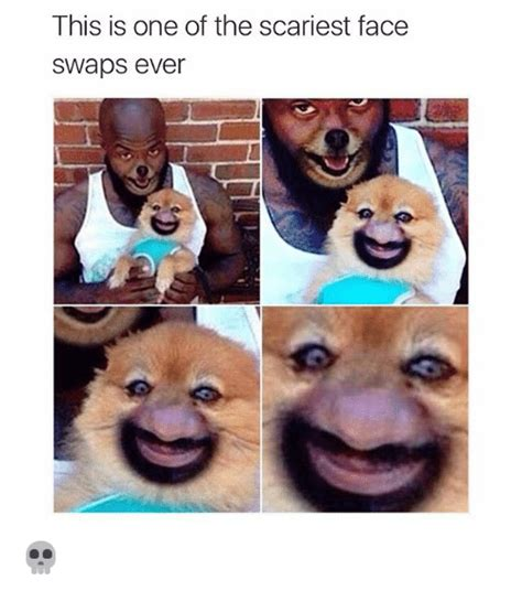 Face Switch Meme - this is one of the scariest face swaps ever funny meme on sizzle