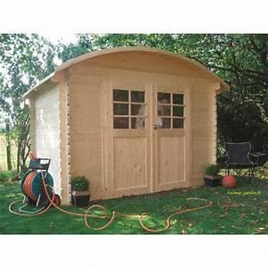 Toit En Bois : abri de jardin en bois dainville toit arrondi 5 88m ~ Melissatoandfro.com Idées de Décoration