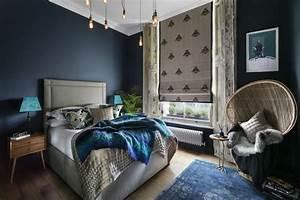 Chambre Bleu Nuit : chambre bleu avec parquet bois ~ Melissatoandfro.com Idées de Décoration