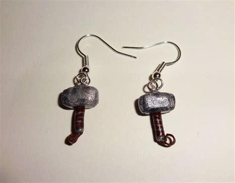 thor 39 s hammer mjolnir earrings by bytoothandclaw on