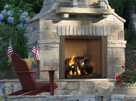 Castlewood Fireplace Stone Patio