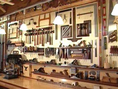 woodshop bench storage  lighting wood shop floor