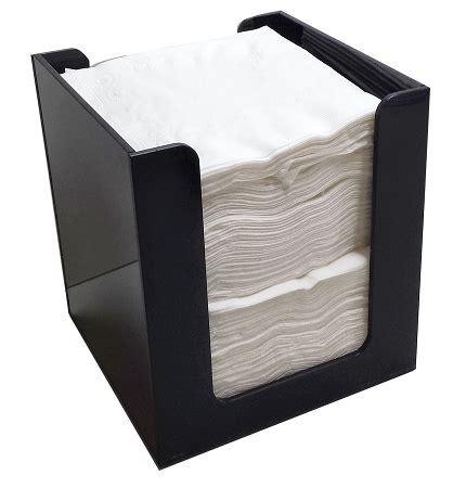 quarter fold napkin holder black acrylic