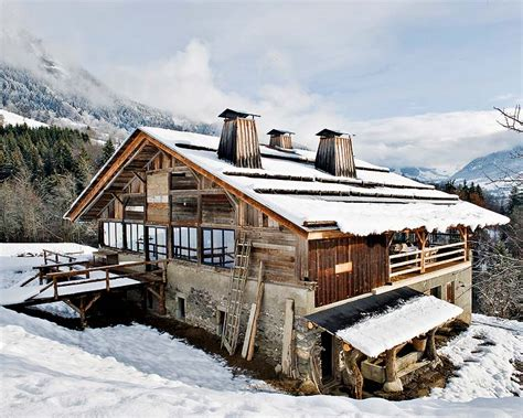a chalet in the alps
