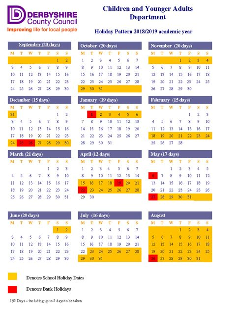 dunston school calendar