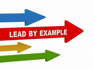 3d Lead By Example Arrow Stock Illustration  Illustration