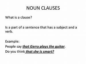 What Is Noun Clause And Examples  What Is A Noun Clause  Definition  Examples Of Nominal Clauses