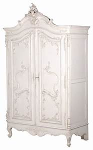 Delphine Distressed Shabby Chic Armoire Victorian