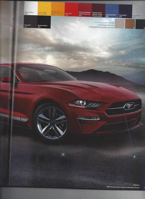 ford mustang order guide leaked  dont opt