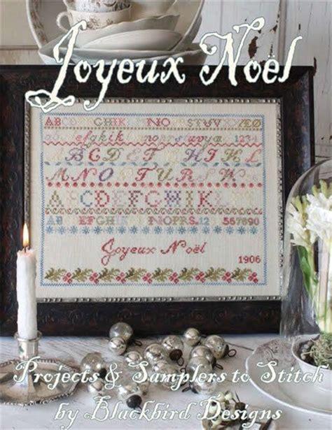 joyeux noel reprint booklet cross stitch chart blackbird designs cross stitch patterns