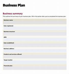 business plan templates 6 download free documents in pdf word excel With business plan template free pdf