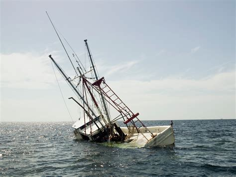 Sinking Boat by Saves His Sinking Boat With A Vodka Cork Food Wine