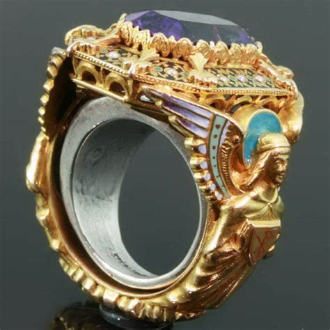 Gold Victorian Bishops Ring With Stunning Enamel Work And. Cathedral Engagement Rings. Unique Gem Wedding Wedding Rings. Gold Inlay Rings. Zales Rings. Cremation Rings. Bliss Engagement Rings. Colorful Plastic Rings. Heirloom Wedding Rings