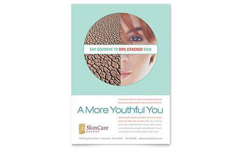 skin care clinic business card letterhead template