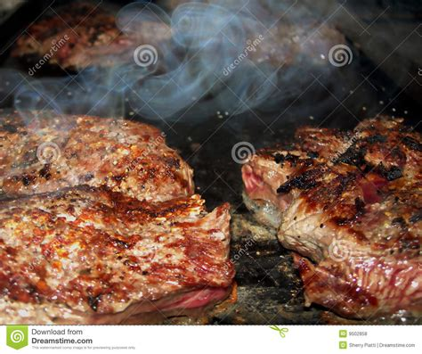 smokey grill barbecue stock photo image  sizzle shank