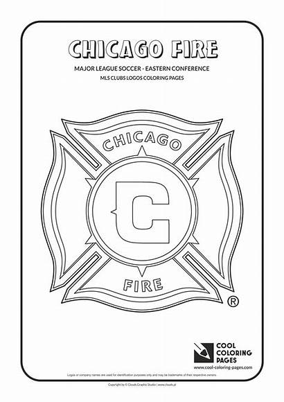 Coloring Pages Fire Chicago Mls Soccer Logos