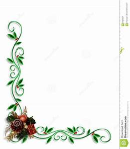 Christmas Holly Border Corner Design Stock Illustration ...