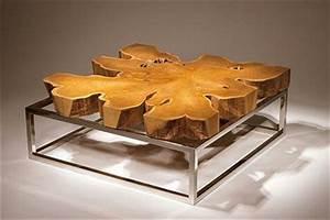 Table Tres Basse : mod les de table basse originale inspir s par la nature ~ Teatrodelosmanantiales.com Idées de Décoration