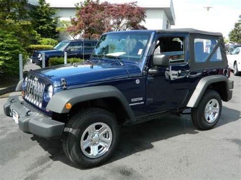 jeep navy blue 2013 jeep wrangler sport sport suv 2 doors true blue pearl