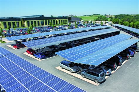 Schletter's Park@sol Modular Solar Carport For Electric