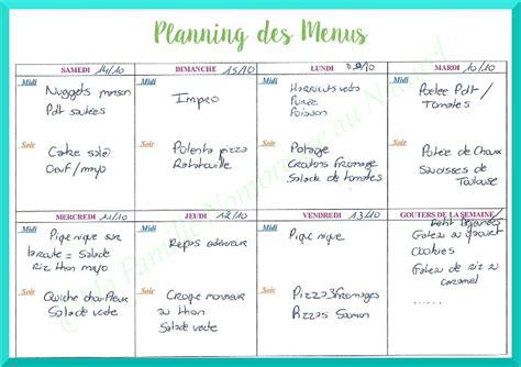 menu semaine cuisine az planning des repas 16 ma famille nombreuse au naturel