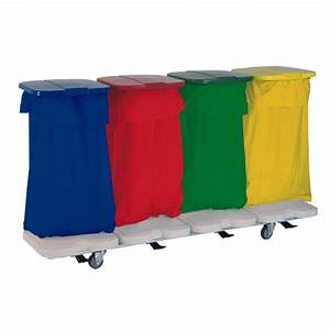 Sac à Linge Sale : chariot porte sac linge sale 4 sacs avec couvercles et ~ Dailycaller-alerts.com Idées de Décoration