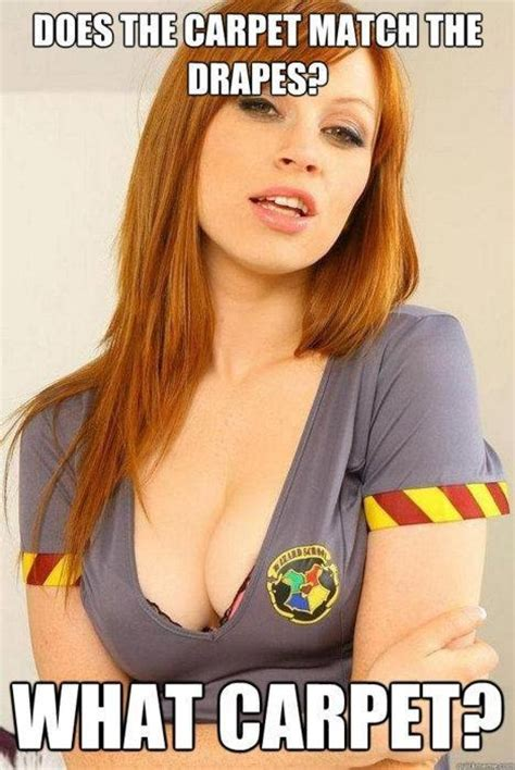 Erotic Memes - red hair harry potter sexy costume way to sneak into my head internet meme take this