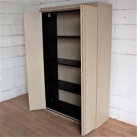 Foldable Cupboard by Large Folding Door Cupboard Beige 5052 Allard Office