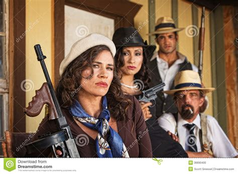 1920s Era Mob With Weapons Stock Photo. Image Of